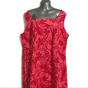 Faded Glory Floral Print Dress Criss Cross Back
